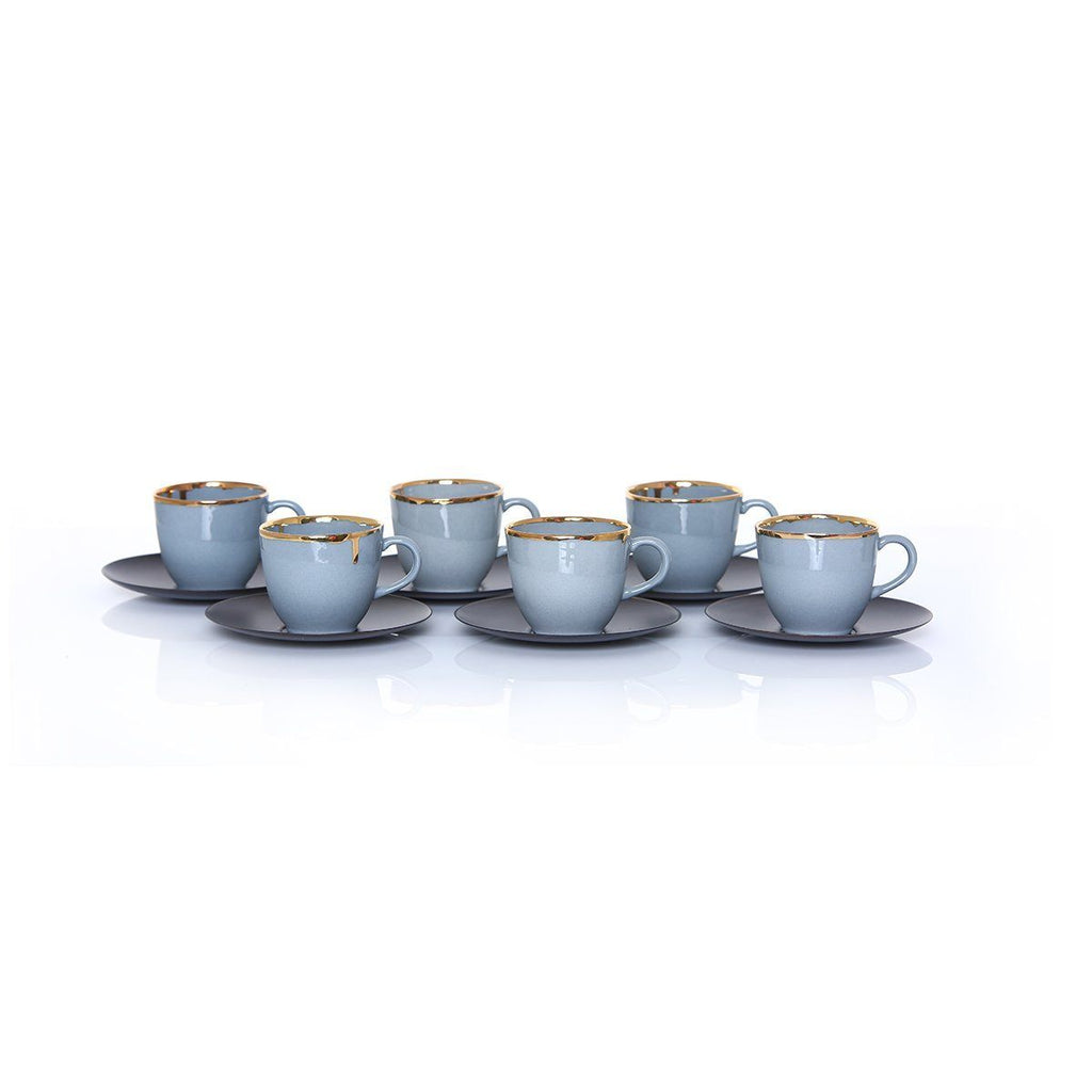 Ozlemtuna Coffee Set 6pcs Porcelain, Grey