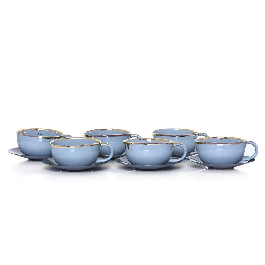 Ozlemtuna Capuccino Set 6pcs Porcelain, Grey