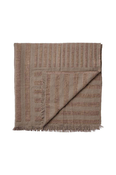 Contra Wool Throw, Taupe, 170x130 cm