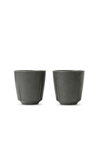 Grand Cru Take Mug, Set of 2, Dark Grey
