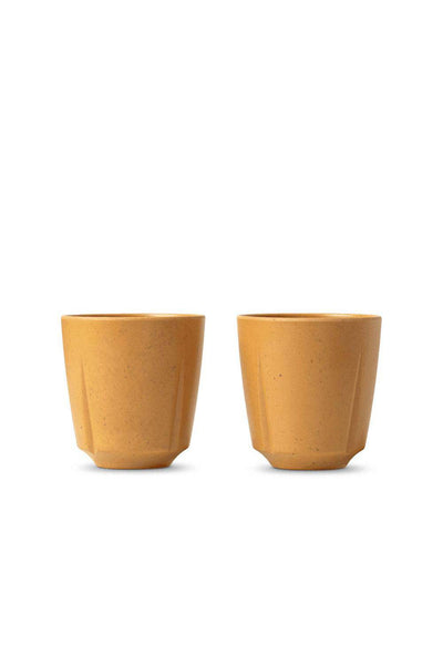Grand Cru Take Mug, Set of 2, Ochre