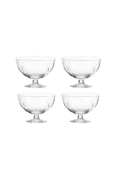 Glass Bowl, Set of 4, 12 cm