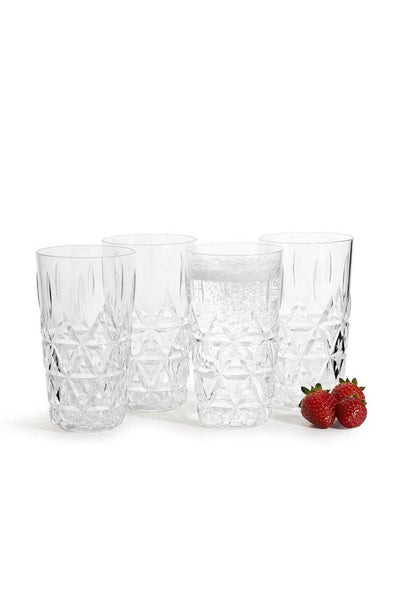 Picnic Acrylic Tumbler, Set of 4, 400 ml