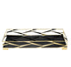 Trama Rectangular Bar Tray with Black Glass, Gold