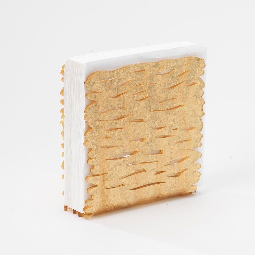 Aria Acrylic Napkin Holder - Gold