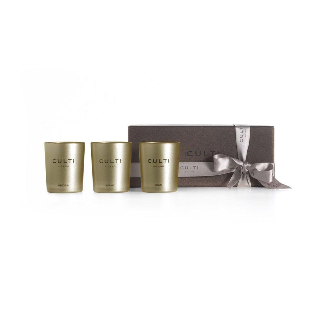 Culti Candles Gift Box, Gold (Fiqum, Gelsomino, Mendula Gold)