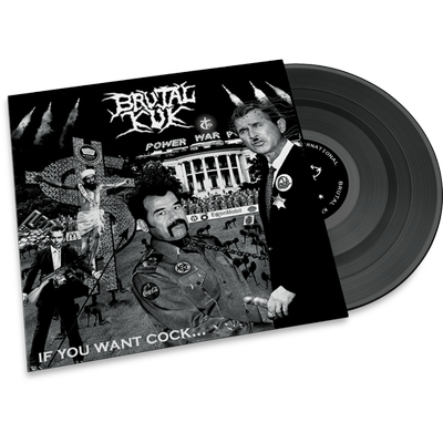 Brutal Kuk • If You Want Cock LP (LTD marble vinyl 115 copies )