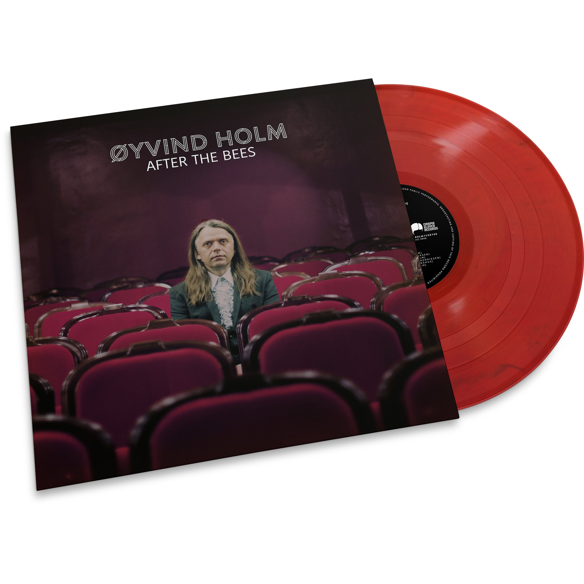 "Øyvind Holm - After The Bees (LTD Transparent red mixed with black + bonus 7"") 300 copies only."