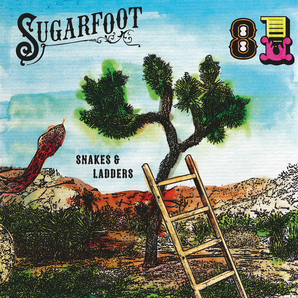 Sugarfoot - Snakes & Ladders LTD gold & red mixed 7""