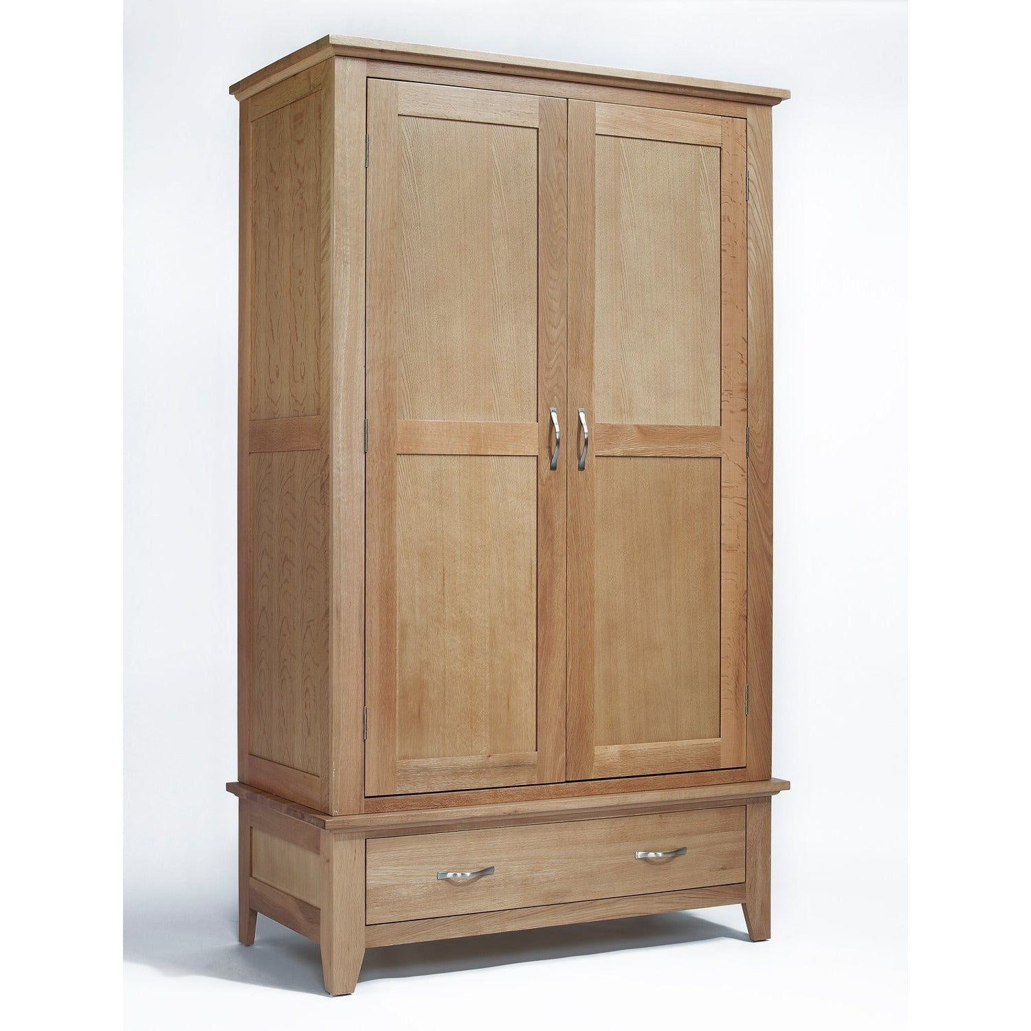 Sherwood Oak Double Wardrobe 1 Drawer - Perfectly Home Interiors