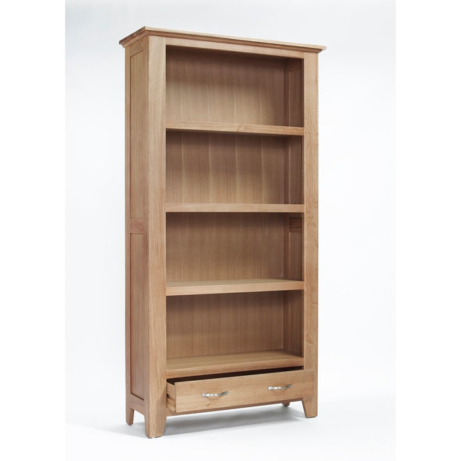 Sherwood Oak Large 1 Drawer Bookcase - Perfectly Home Interiors