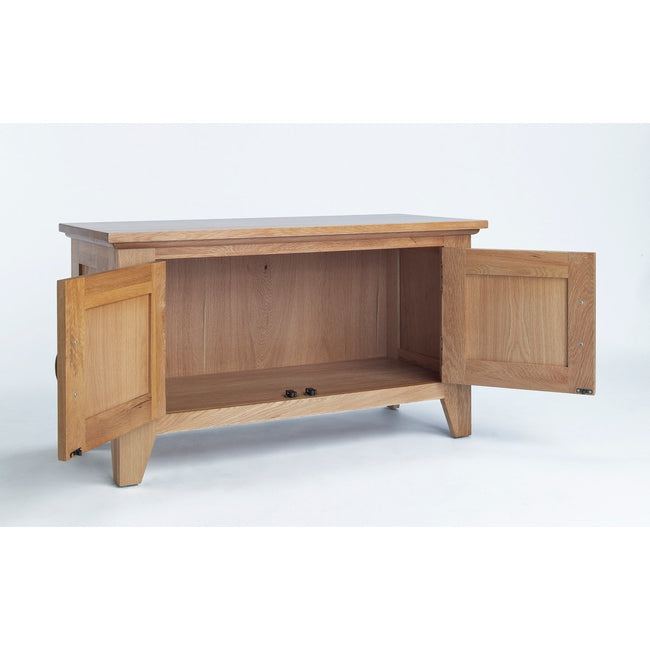 Sherwood Oak Cabinet 2 Door - Perfectly Home Interiors