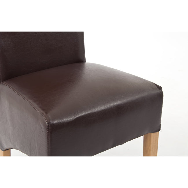 Sherwood Oak Rolltop PU / Bicast Leather Chair - Dark Brown - PAIR - Perfectly Home Interiors