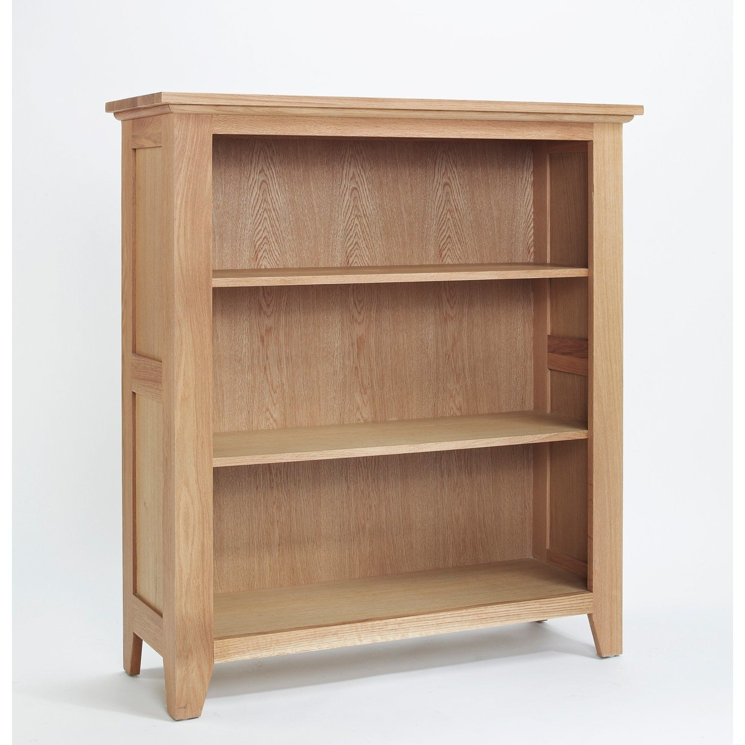 Sherwood Oak Low Bookcase - Perfectly Home Interiors