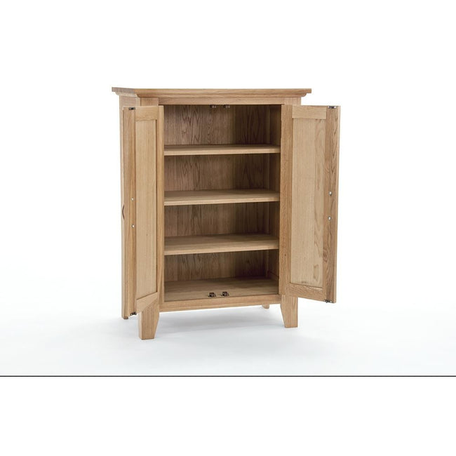 Sherwood Oak Shoe Cabinet - Perfectly Home Interiors
