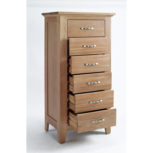 Sherwood Oak Chest 6 Drawer Tall - Perfectly Home Interiors