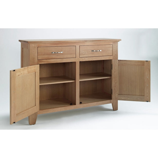 Sherwood Oak Sideboard 2 Door 2 Drawer - Perfectly Home Interiors