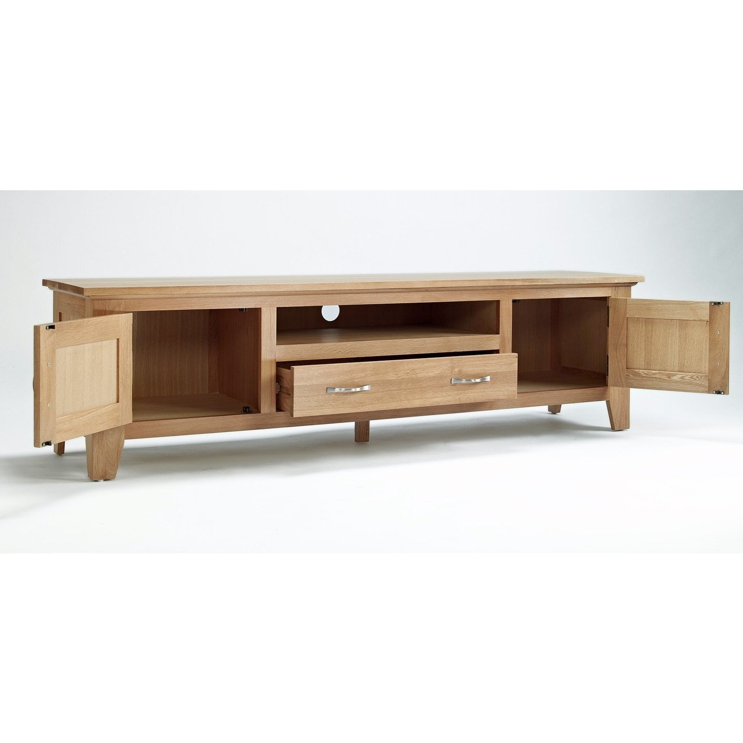 Sherwood Oak Large TV Unit - Perfectly Home Interiors