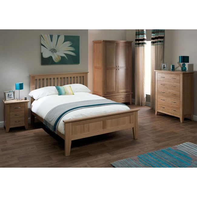 Sherwood Oak 5ft King Size Bed - Perfectly Home Interiors
