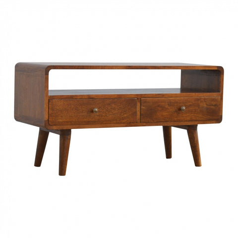 Davenport Ivory and Oak Coffee Table