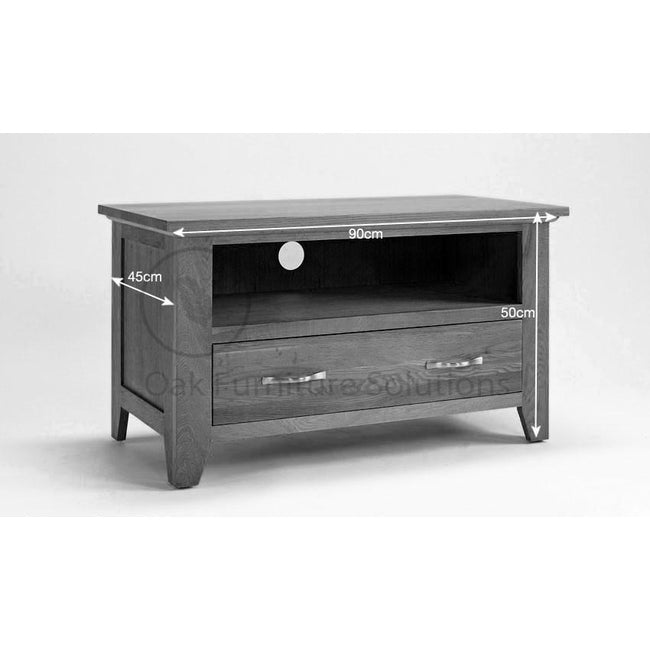 Sherwood Oak Small TV Unit - Perfectly Home Interiors