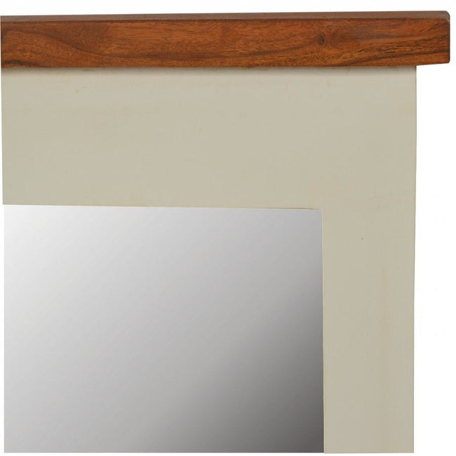 2 Toned Rectangular Mirror - Perfectly Home Interiors