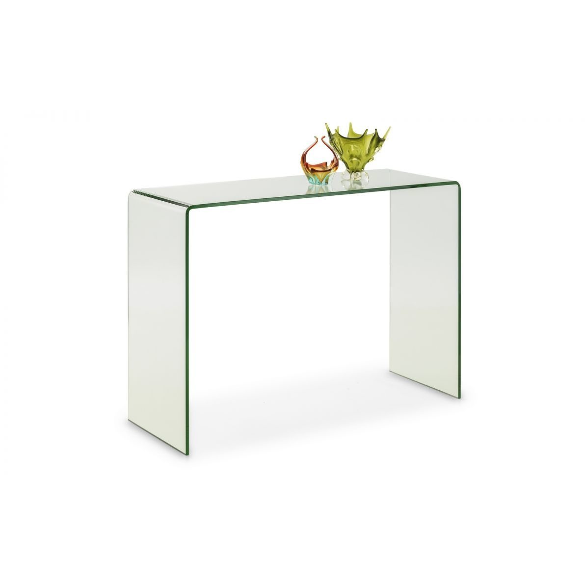 Amalfi Bent Glass Console Table - Perfectly Home Interiors
