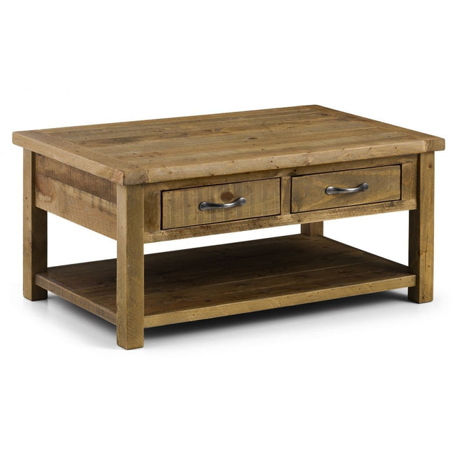 Aspen Coffee Table with 2 Drawers - Perfectly Home Interiors