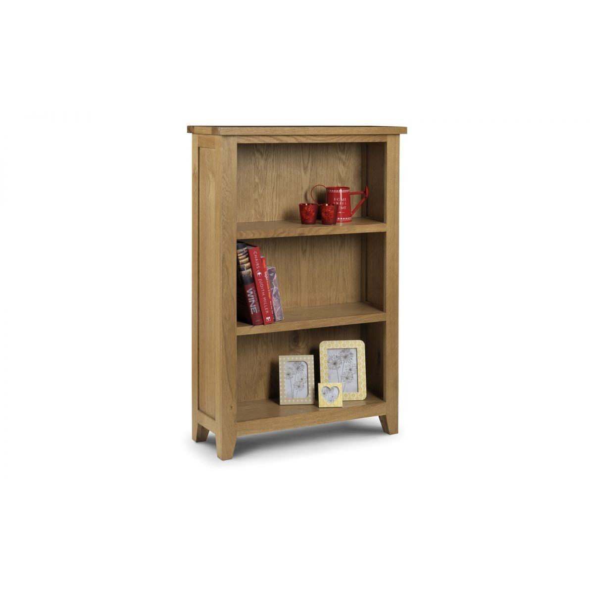 Astoria Oak Low Bookcase - Perfectly Home Interiors