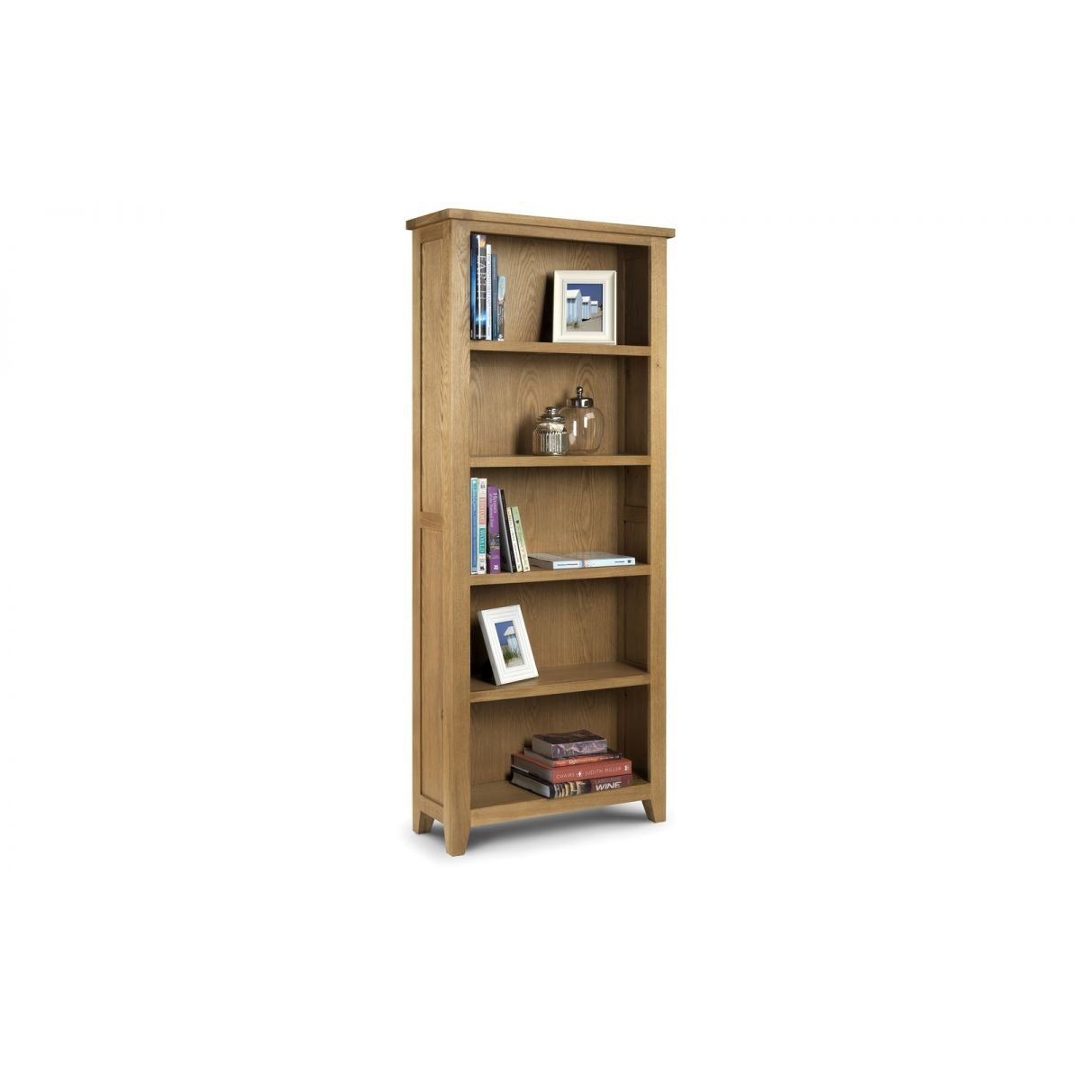 Astoria Oak Tall Bookcase - Perfectly Home Interiors