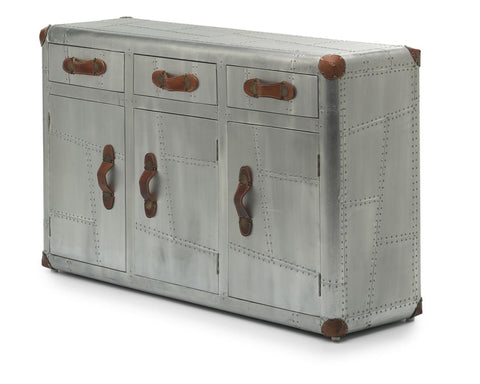 Aviator 2 Drawer Aluminium Chest