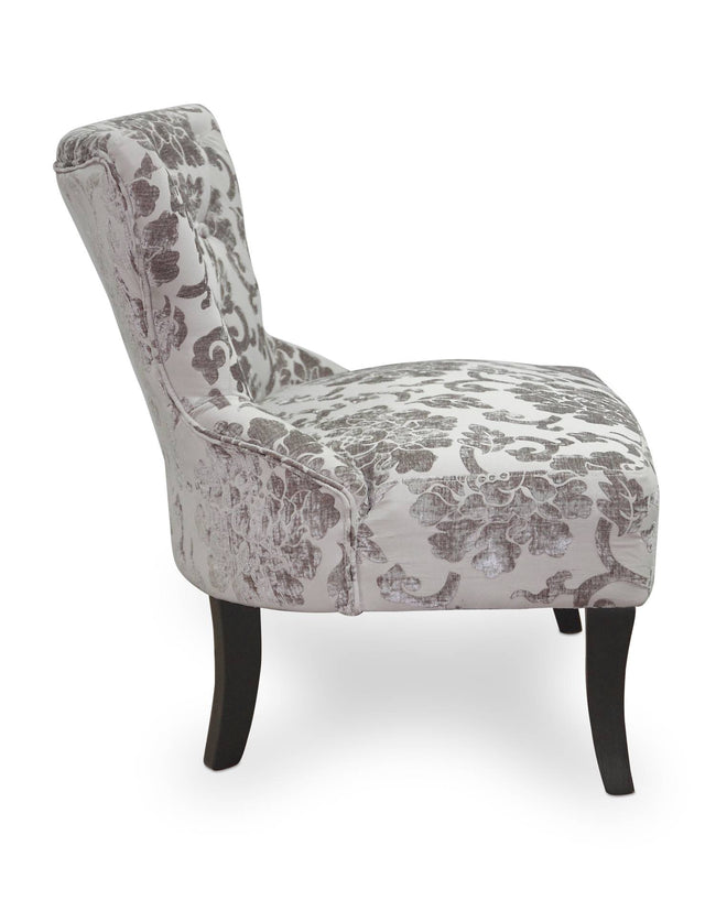 Belgravia Baroque Mink Fabric Chair - Perfectly Home Interiors