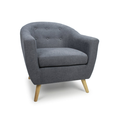 Belgravia Baroque Charcoal Fabric Chair