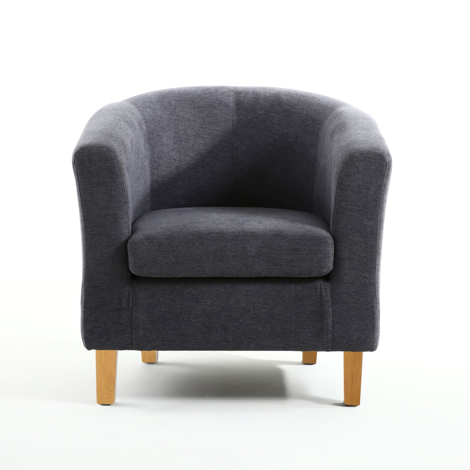 Blue Classic ChenilleTub Chair - Perfectly Home Interiors