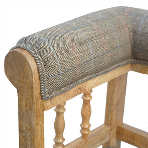 Hallway Bench Upholstered in Tweed - Perfectly Home Interiors