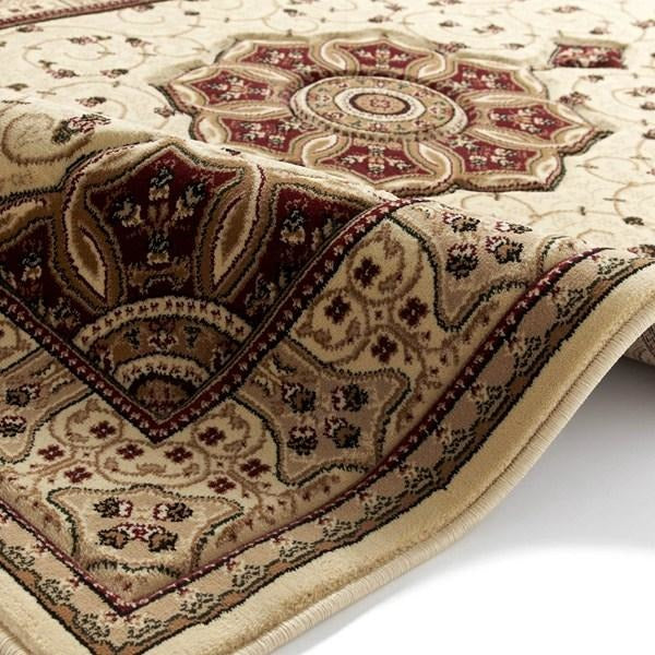 Heritage 4400 Cream/Red Rug - Perfectly Home Interiors