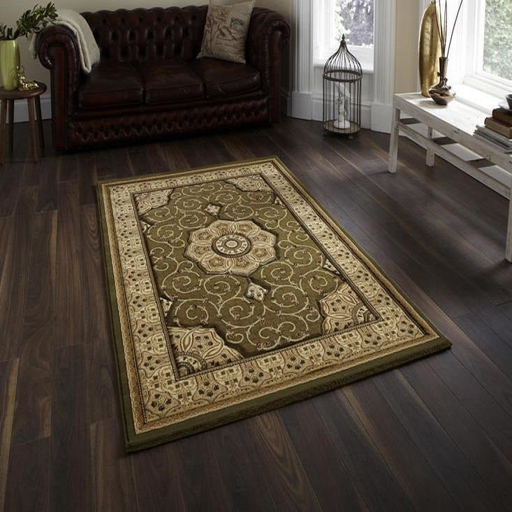 Heritage 4400 Green Rug - Perfectly Home Interiors