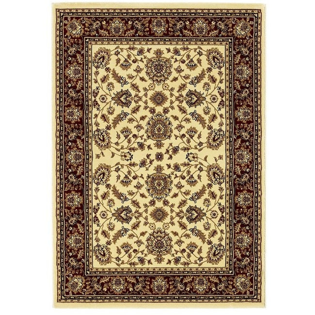 Heritage 993 Ivory/Red Rug - Perfectly Home Interiors