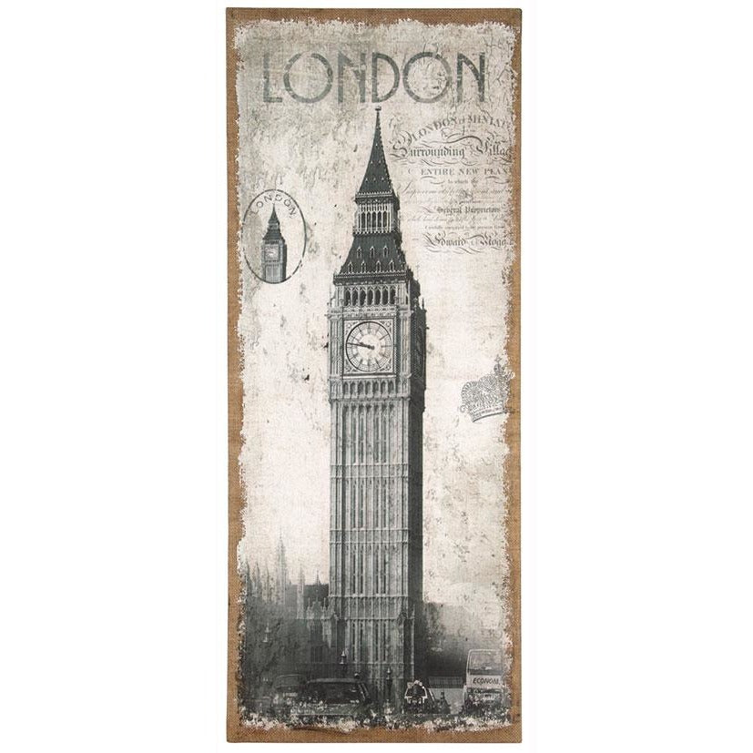 London Design Oblong Wall Canvas - Perfectly Home Interiors
