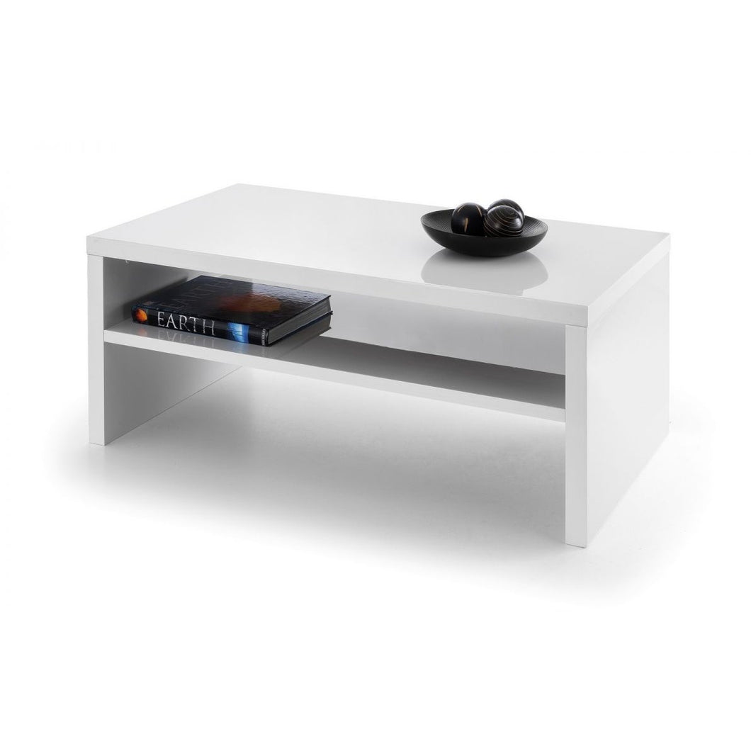 Metro High Gloss White Coffee Table - Perfectly Home Interiors