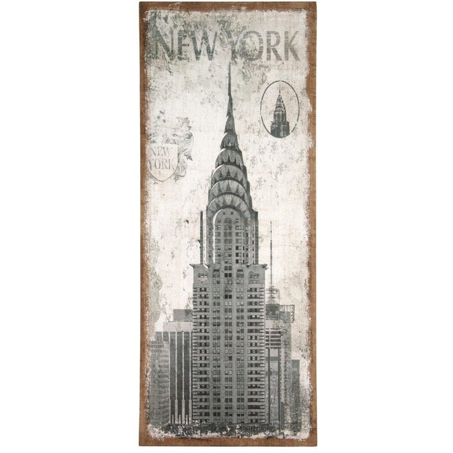 New York Design Oblong Wall Canvas - Perfectly Home Interiors