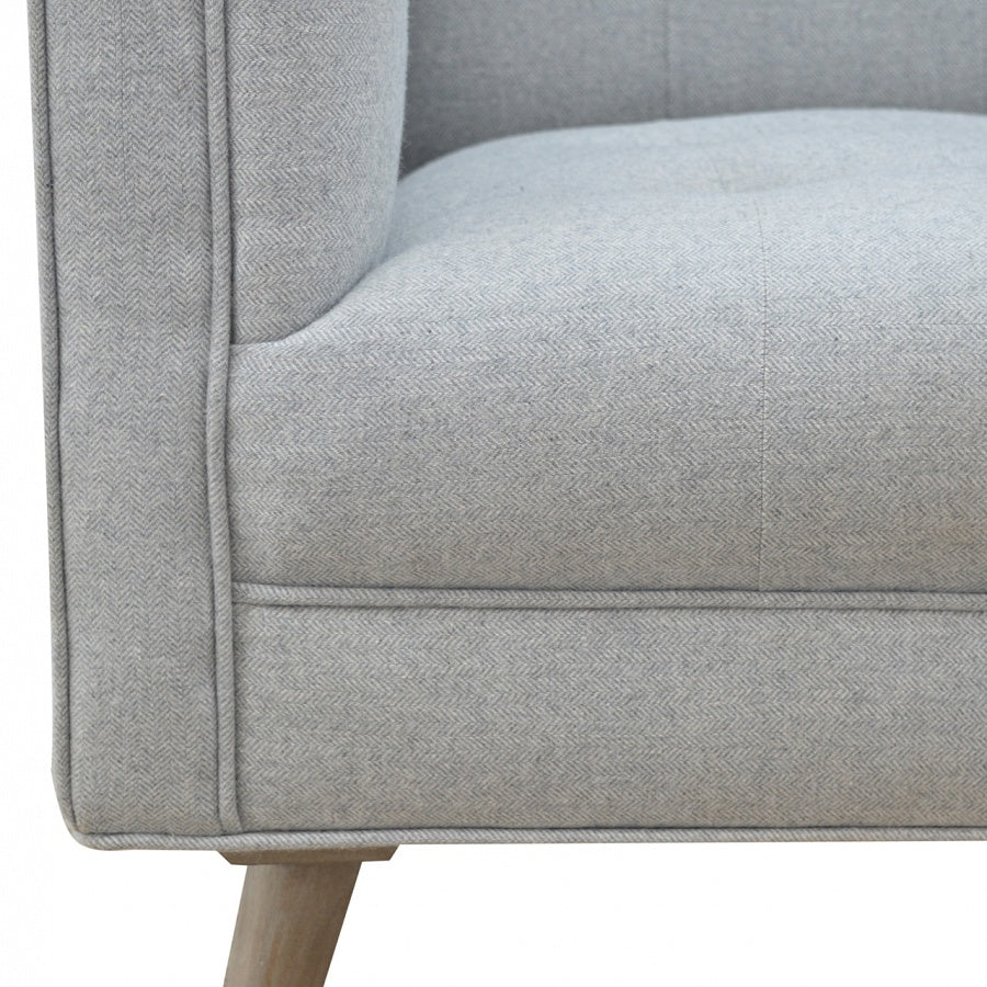 ... Scandi Style Armchair In Grey Tweed   Perfectly Home Interiors ...