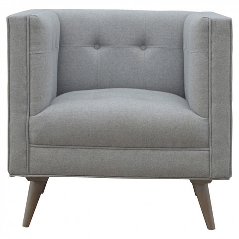Blue Classic ChenilleTub Chair