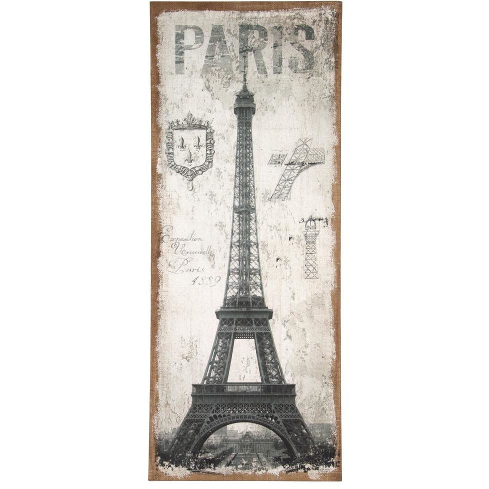 Paris Design Oblong Wall Canvas - Perfectly Home Interiors