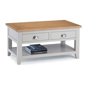 Richmond Grey and Oak Coffee Table - Perfectly Home Interiors