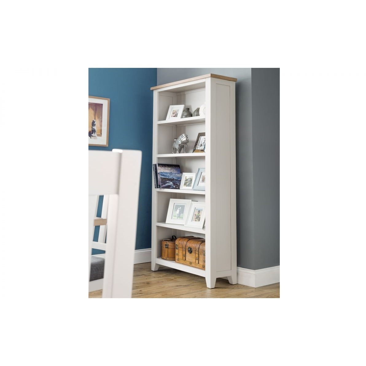 Richmond Tall Grey Bookcase - Perfectly Home Interiors