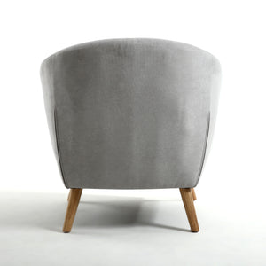 Silver Button Back Deep Tub Chair - Perfectly Home Interiors