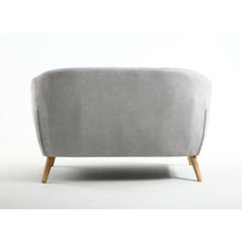 Silver Button Back Deep Tub Sofa - Perfectly Home Interiors