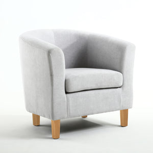 Silver Classic ChenilleTub Chair - Perfectly Home Interiors