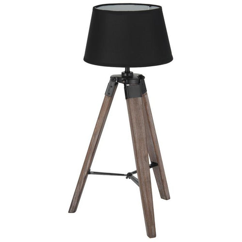 Small Wooden Tripod Table Lamp - Perfectly Home Interiors
